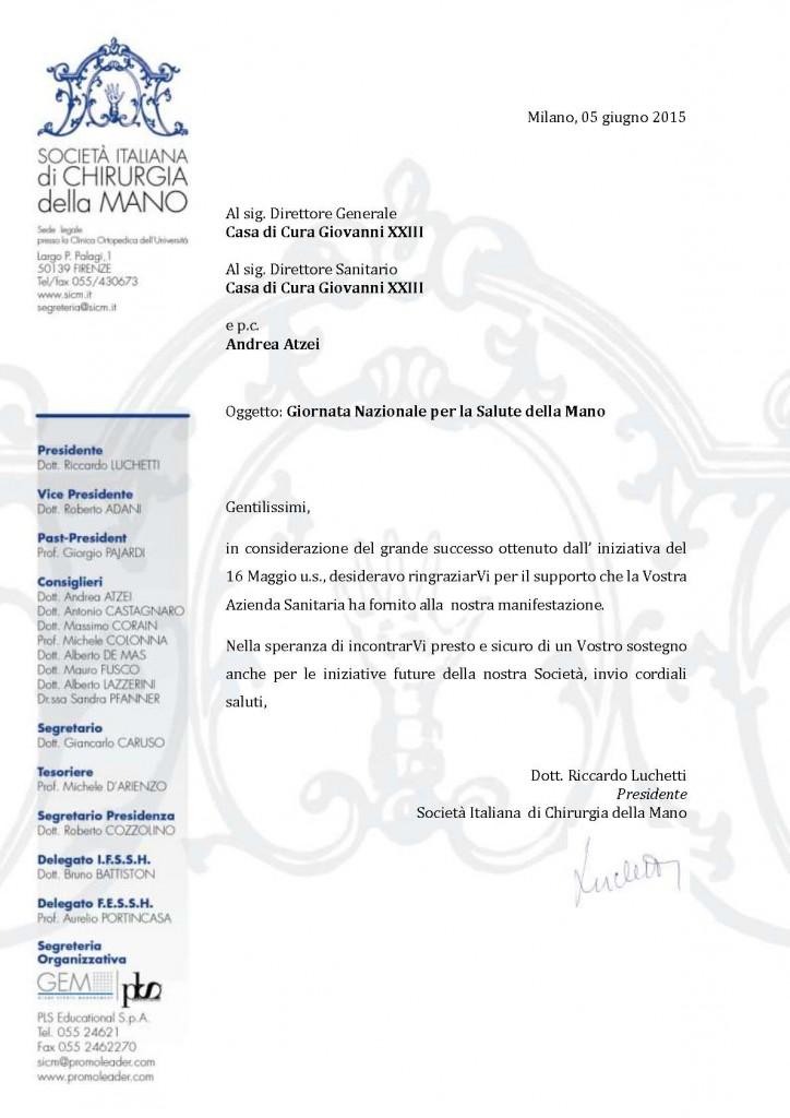 lettera.ringraziamento Treviso